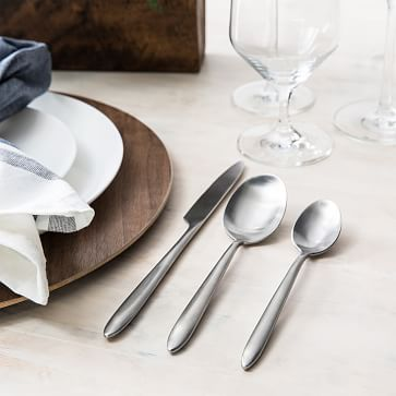 Ss Velo Brushed Gold Plated 5-Piece Place Setting, Boxed, Each