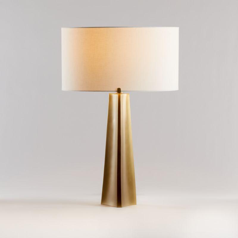 Isla Brass Triangle Table Lamp