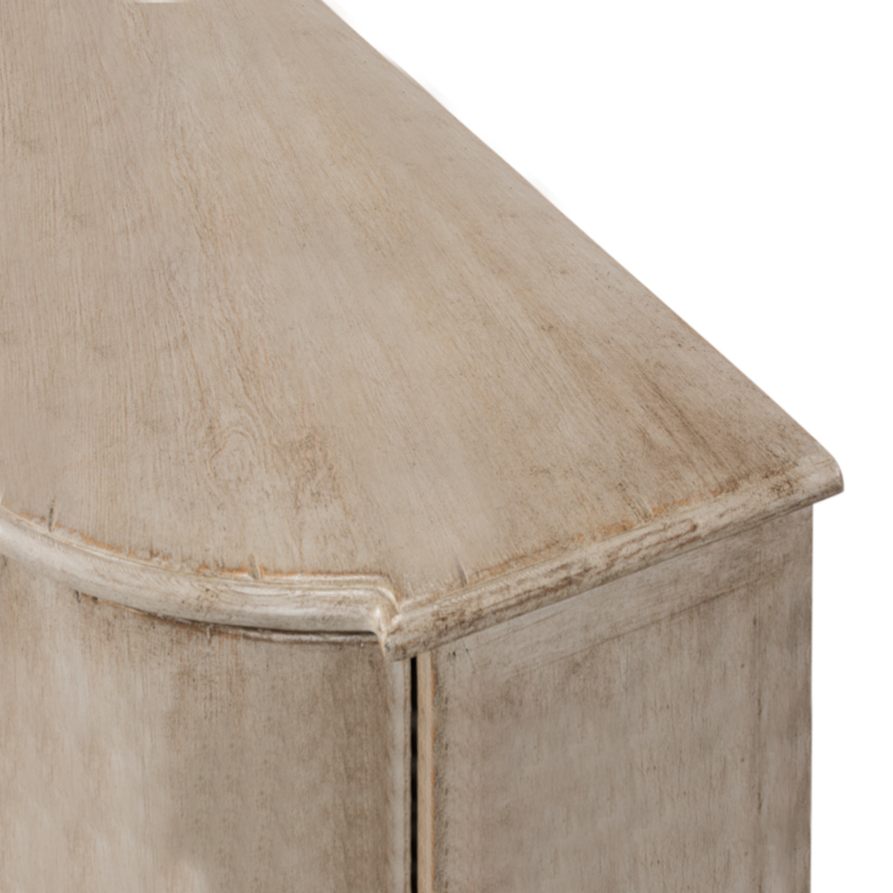 Bethenny French Country Grey Wash Pine Wood Media Cabinet