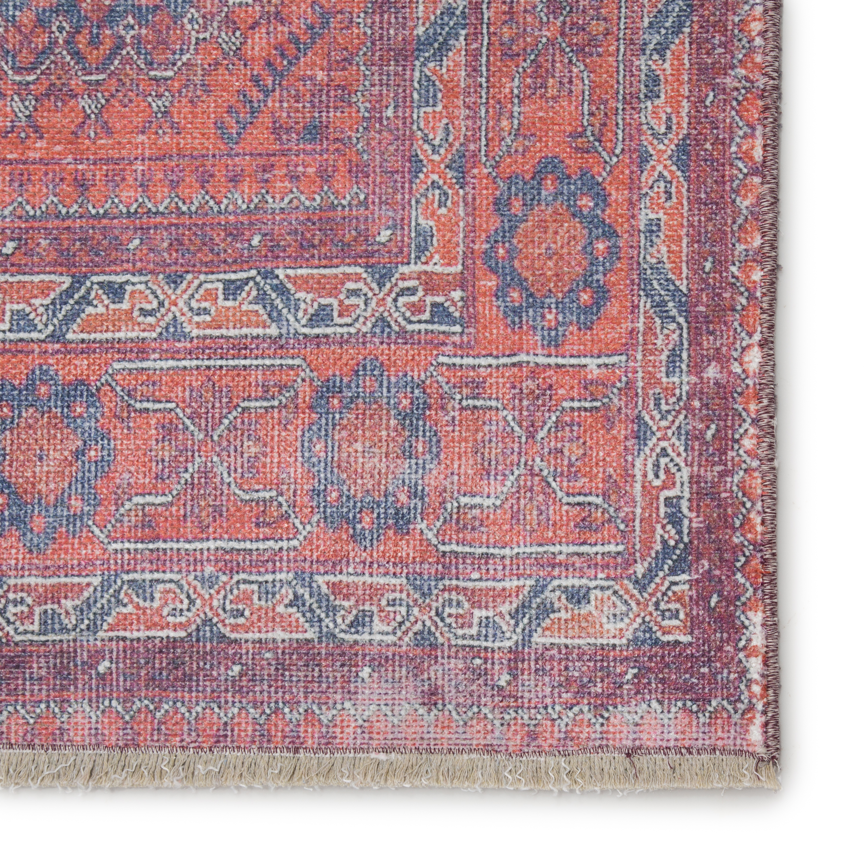 """Shelta Oriental Blue/ Red Area Rug (8'10""""X11'9"""")"""