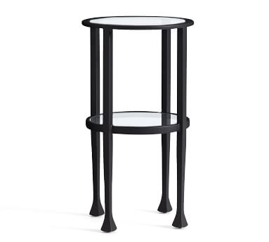 Tanner Round Accent Table, Bronze