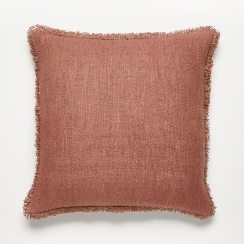 "20"" Eyelash Mauve Pillow with Down-Alternative Insert"