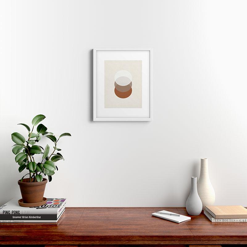 """Orbit 005 by Rose Beck - Modern Framed Art Print, White, 16"""" x 20"""""""