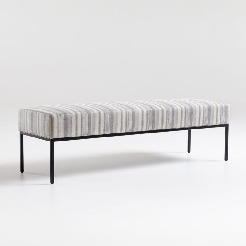 Pax Grey Natural Bench