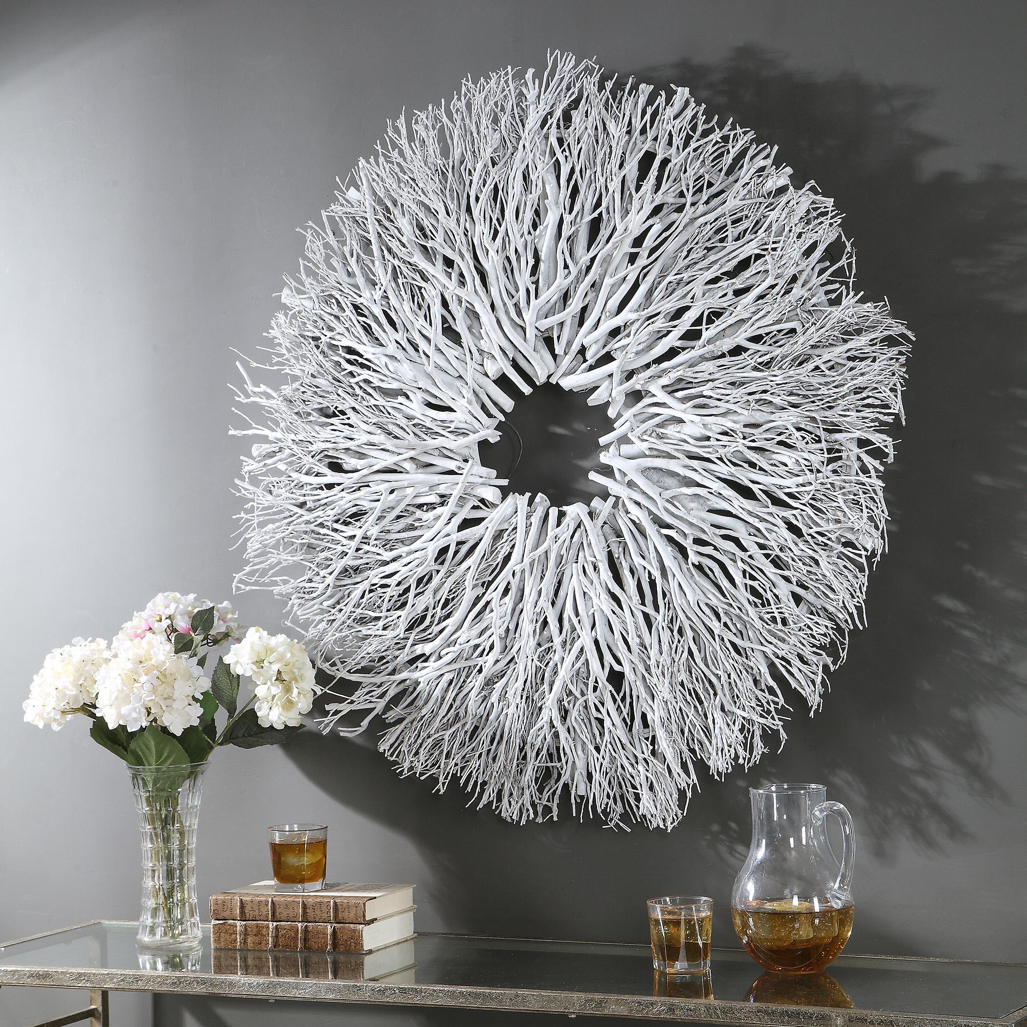 Alene White Wood Wall Decor