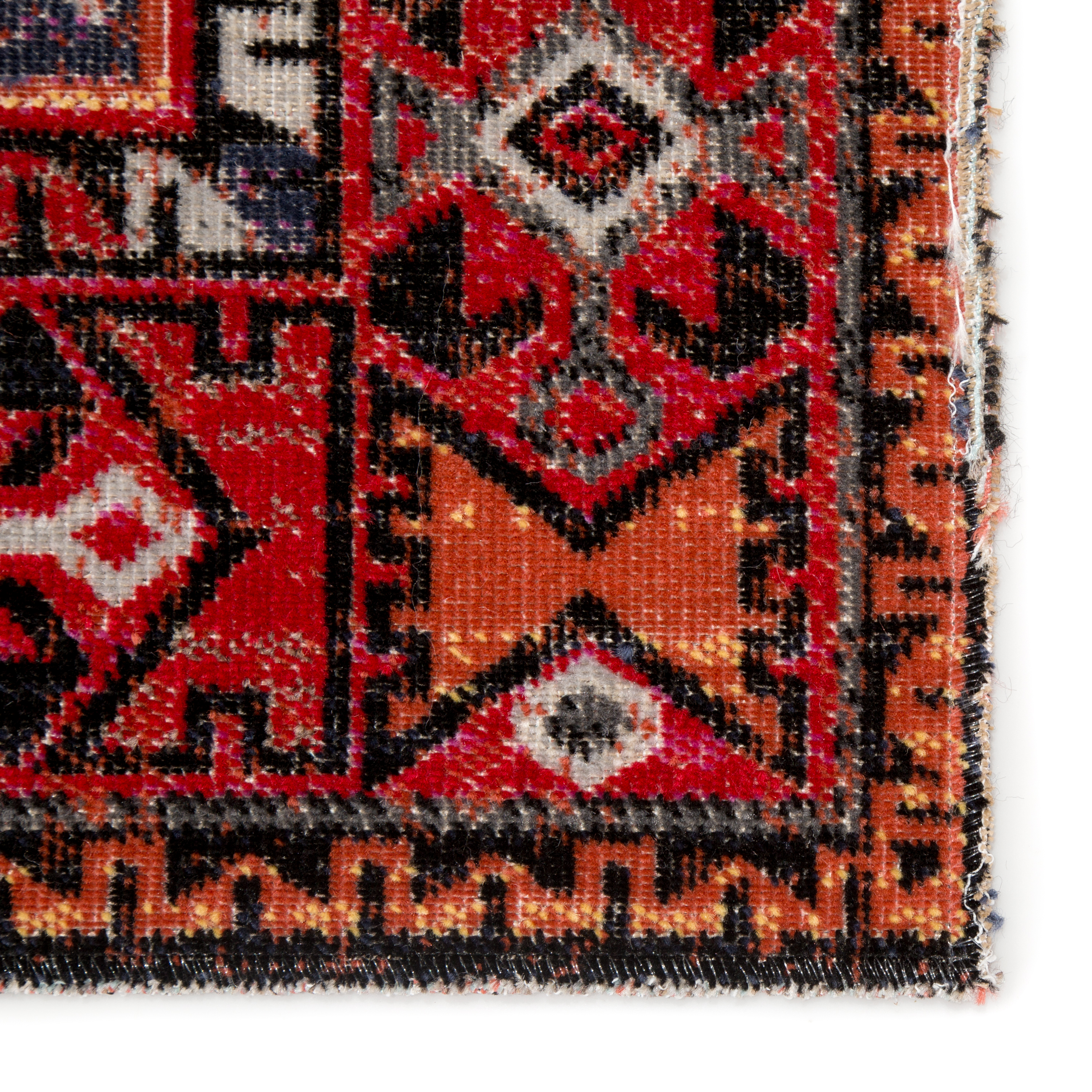 """Paloma Indoor/ Outdoor Tribal Red/ Black Area Rug (5'3""""X7'6"""")"""