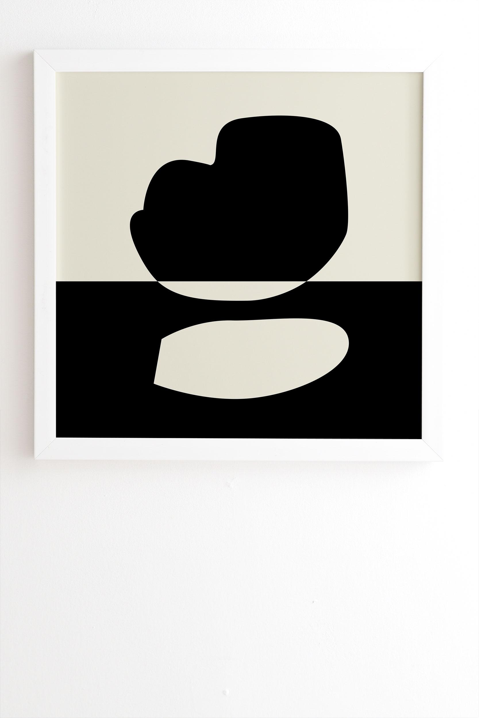 """Reverse 01 by mpgmb - Framed Wall Art Basic White 8"""" x 9.5"""""""