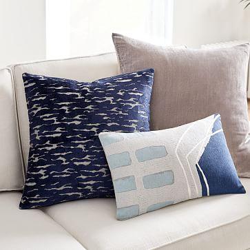 """Lush Velvet Pillow Cover, Regal Blue, 14""""x26"""""""
