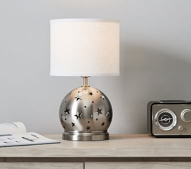 Silver Star Cut Out 3-Way Lamp