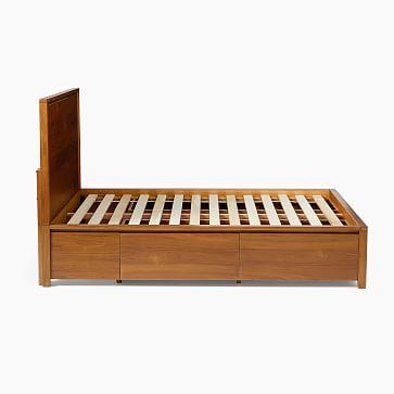 Ansel Side Storage Bed, Queen, Walnut