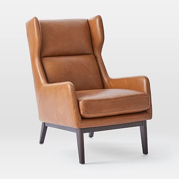 Ryder Leather Chair & Ottoman Set