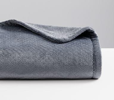 Chamois Baby Blanket, 47x47 in, Grey