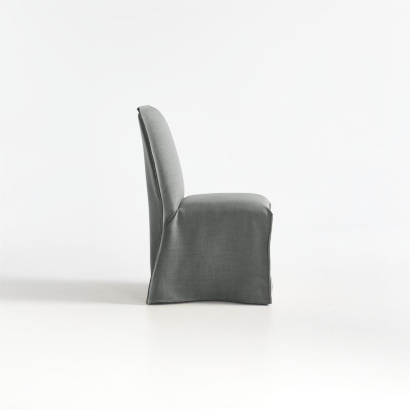 Addison Charcoal Slipcovered Dining Chair