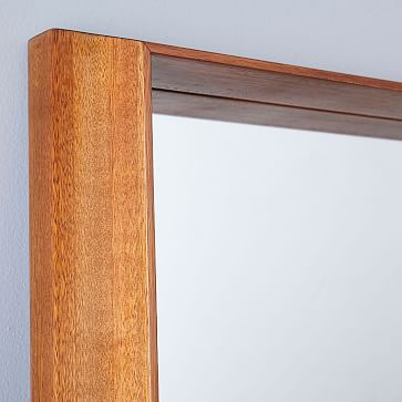 Wood Frame Ledge Floor Mirror