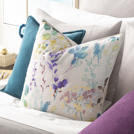 """Florissant - FRS-001 - 18"""" x 18"""" - pillow cover only"""