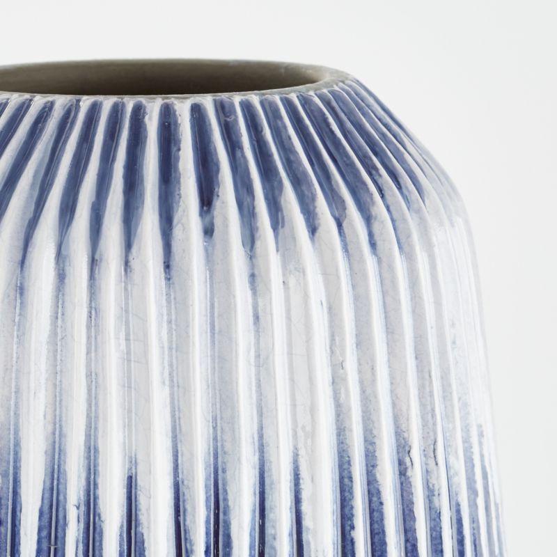 Piega Small Blue and White Vase
