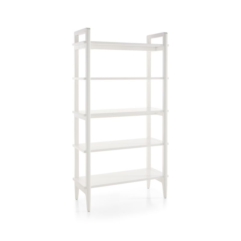 Wrightwood Tall White Bookcase
