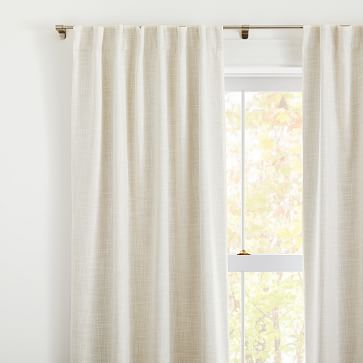 """Crossweave Curtain with Black Out Natural Canvas 48""""x96"""""""