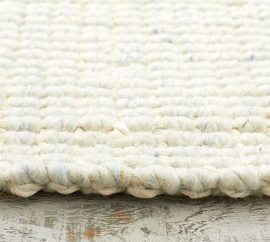 Chunky Wool Jute Rug, Chambray, 8 x 10'