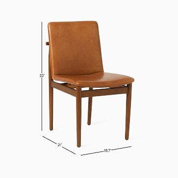 Framework Leather Dining Chair, Saddle Leather, Nut, Dark Walnut
