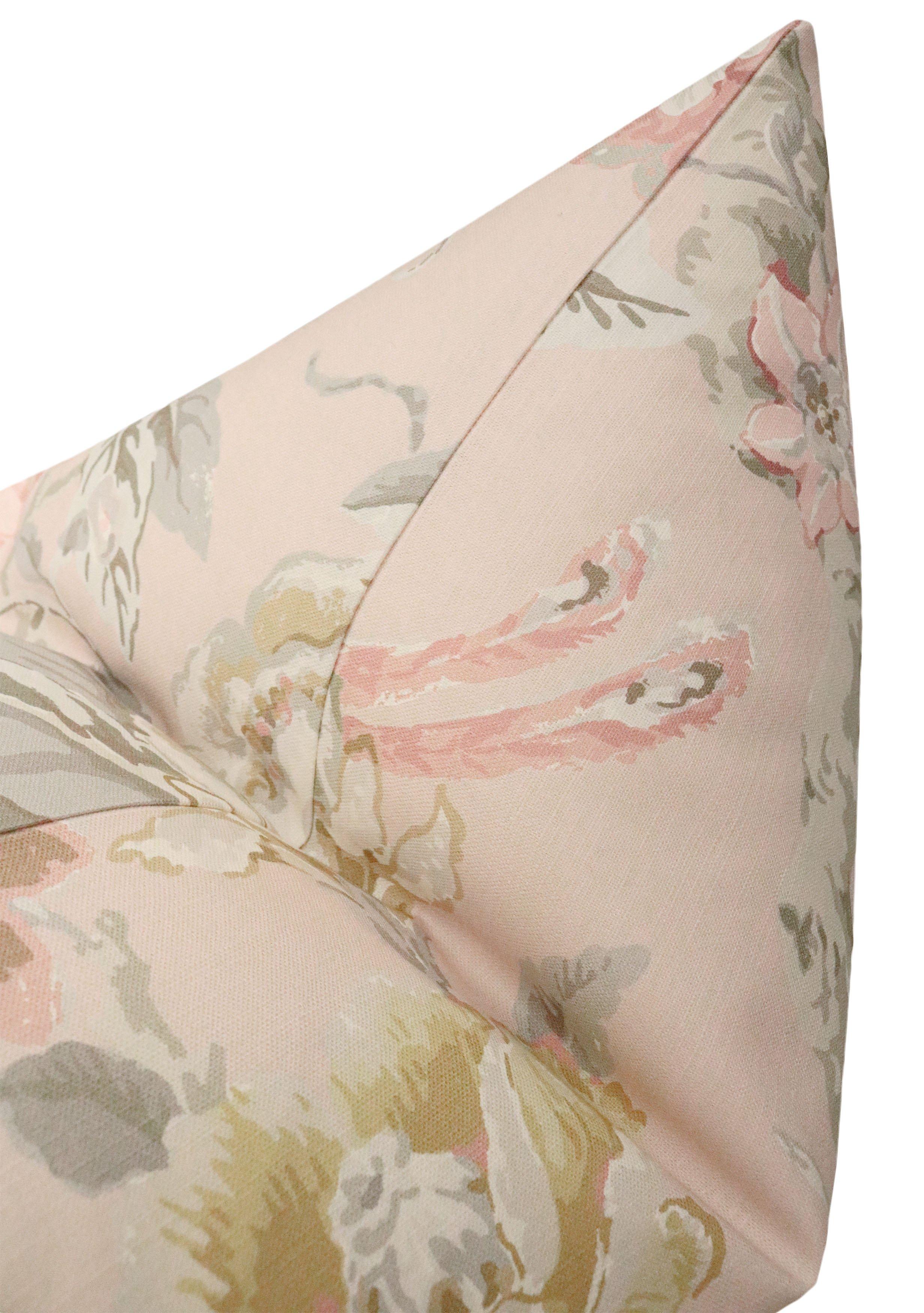 "Floral Aviary Print // Blush - 18"" X 18"""