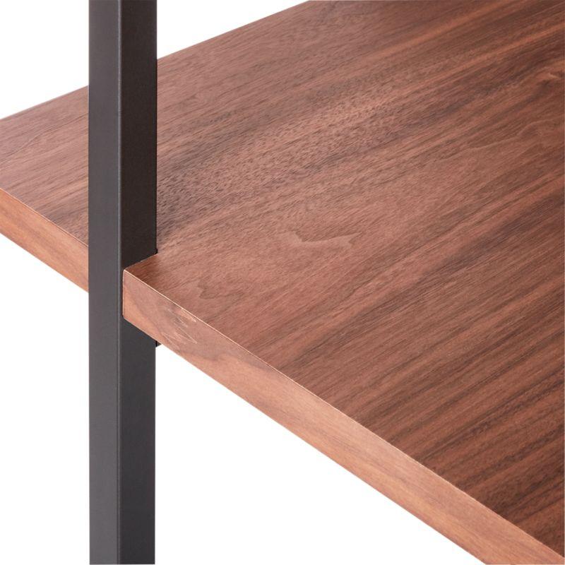 """Helix 70"""" Walnut Desk"""