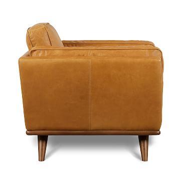 Zander Chair Tan Charme Leather Almond