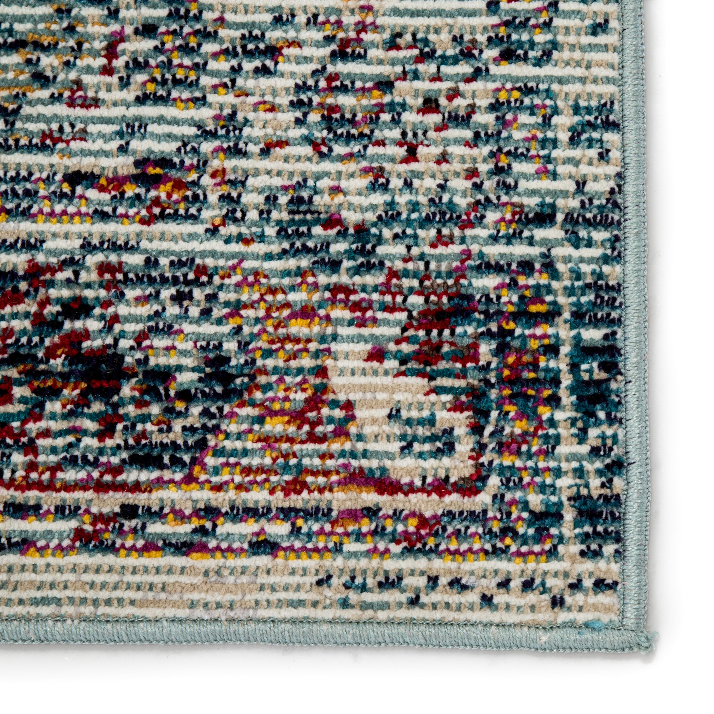 Farra Indoor/ Outdoor Medallion Multicolor/ Blue Area Rug (9'X12')