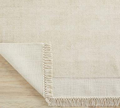 Wray Handwoven Flatweave Rug, 5 x 8', Silver