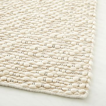 Slub Stripe Sweater Rug, Stone White, 9'x12'