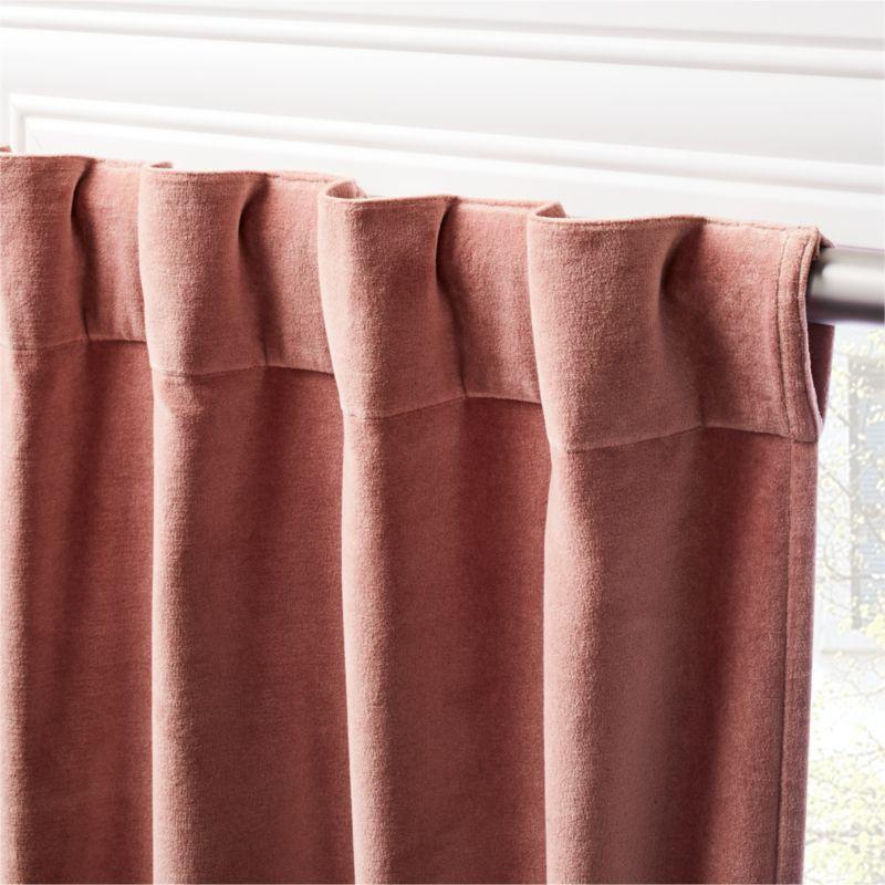 "Velvet Dusty Orchid Curtain Panel 48""x96"""