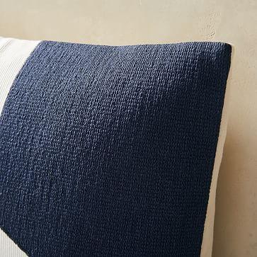 "Corded Minimalist Geo Pillow Cover, 20""x20"", Midnight"