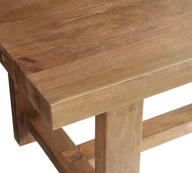 """Reed Extending Dining Table, Antique Umber, 83"""" - 115""""L"""