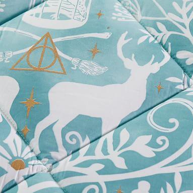 HARRY POTTER(TM) Magical Damask Comforter, Full/Queen, Mystic Mint