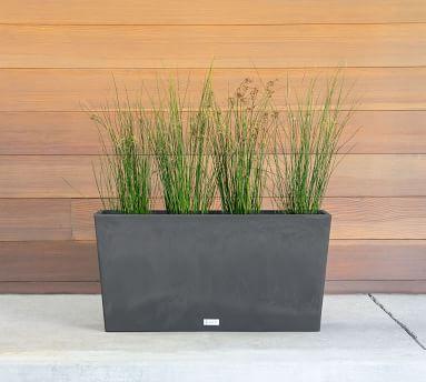 """Hevea Long Box Outdoor Planter, Espresso - 39"""""""
