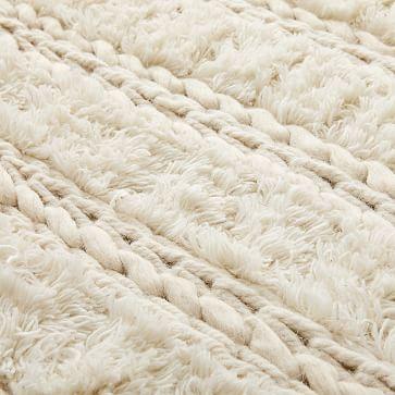 Braid Stripe Sweater Rug, Stone White, 5'x8'