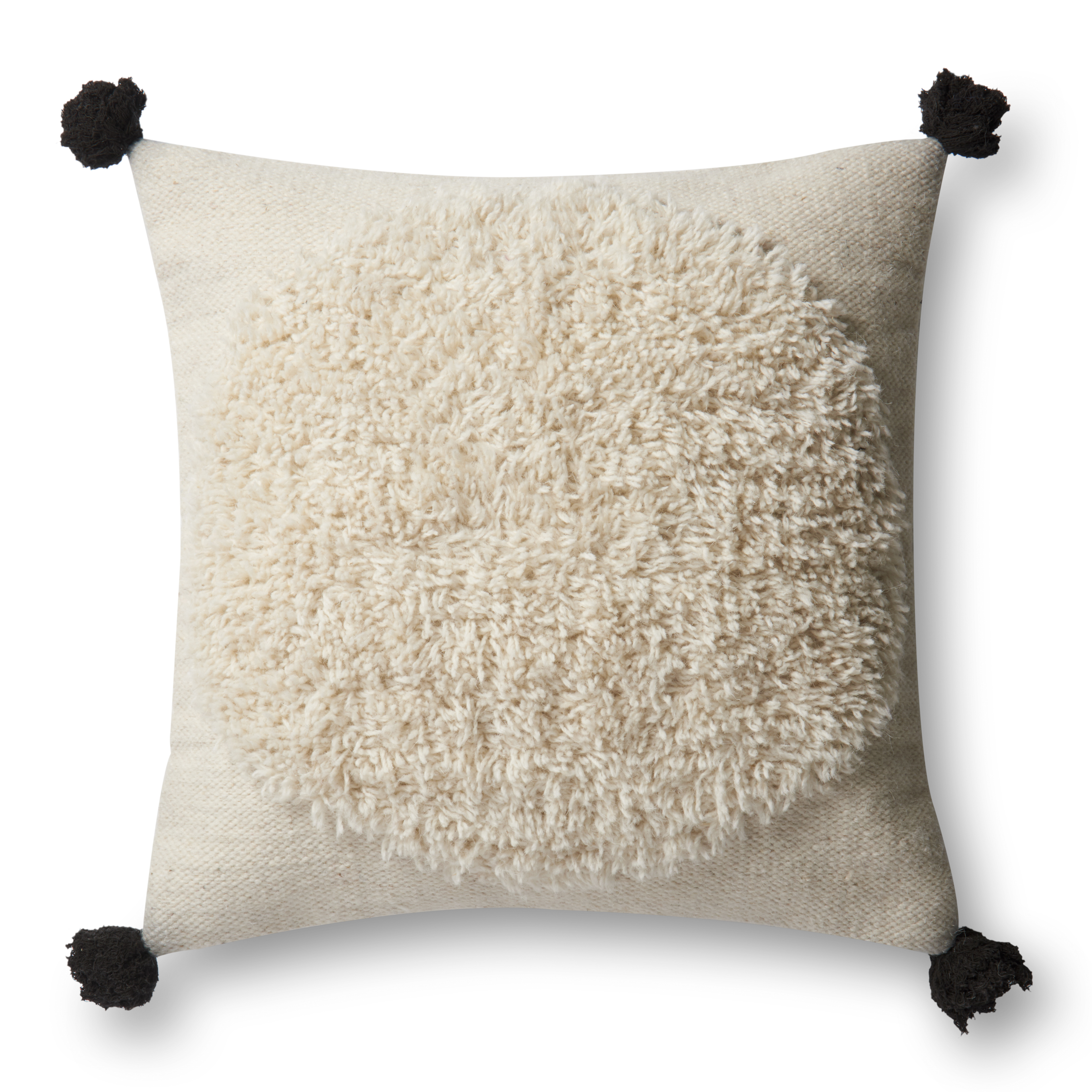 """Justina Blakeney x Loloi PILLOWS P0483 Ivory / Black 13"""" x 21"""" Cover Only"""