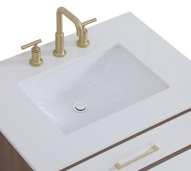 """Walnut Brown Rhine Single Sink Vanity, 30"""""""