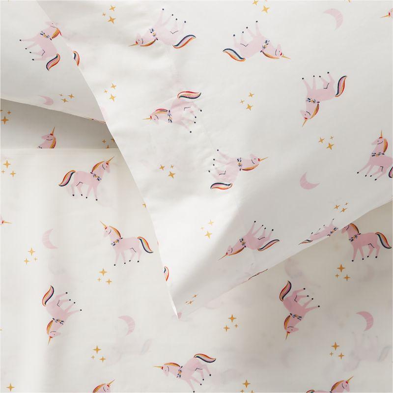 Organic Unicorn Twin Sheet Set