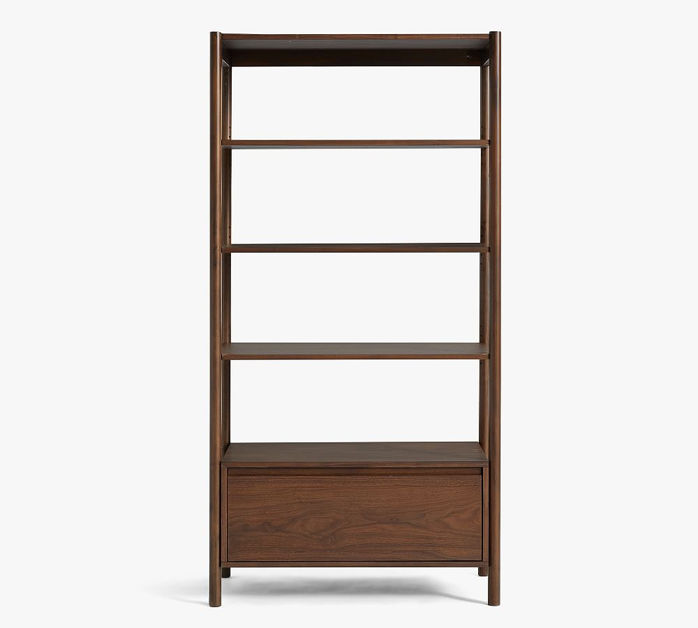 """Bloomquist 37"""" x 73"""" Bookcase with Drawer"""