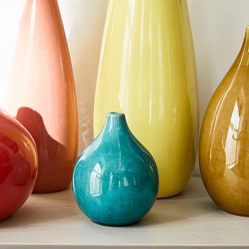 Bright Ceramicist Vase, Small Teardrop Vase, Coral, Set of 2