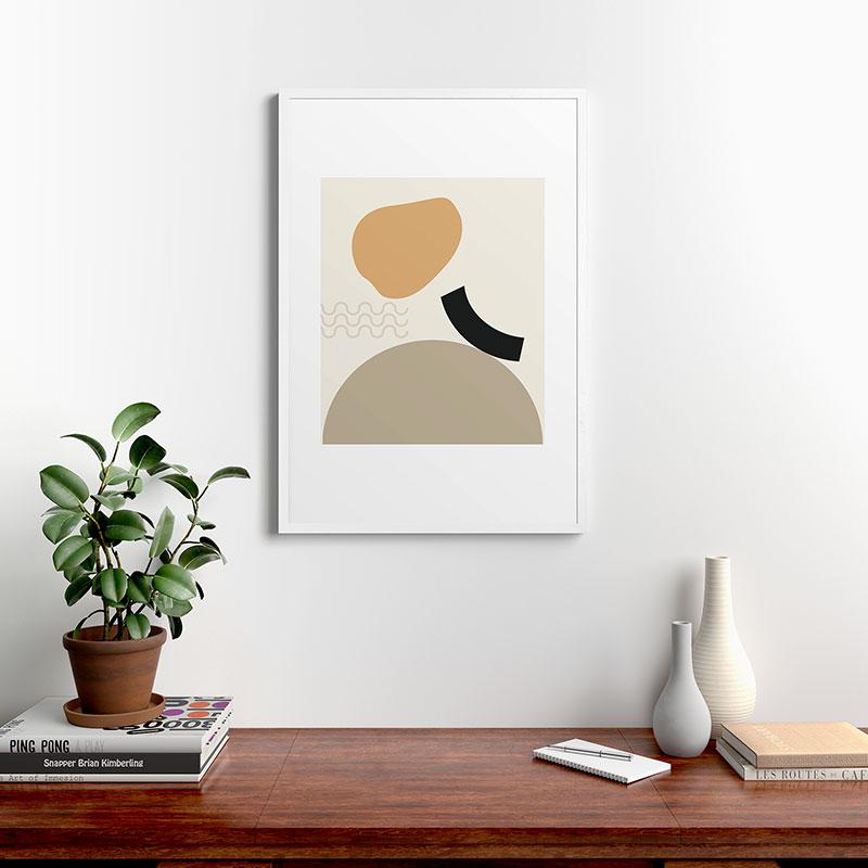 "Shape Study 24 by mpgmb - Modern Framed Art Print White 24"" x 36"""