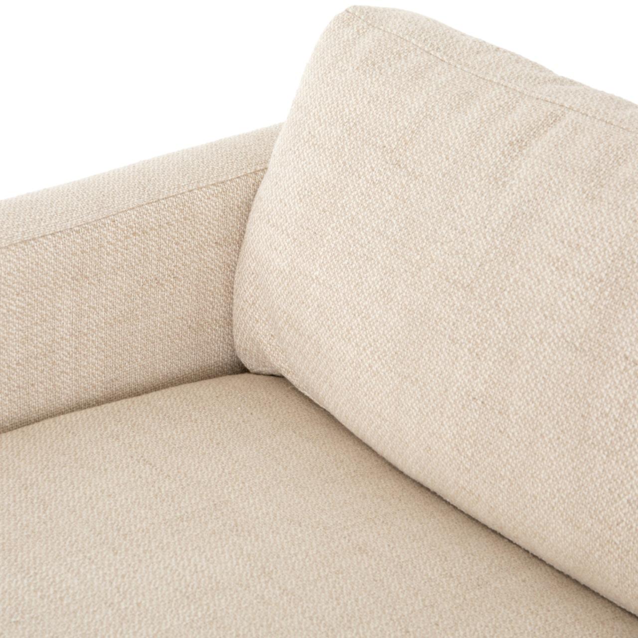 Ethan Modern Classic Cream Upholstered Sofa