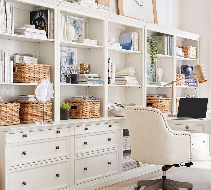Aubrey Woven Lidded Baskets, Small, Natural