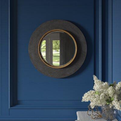 Zena Round Beveled/Distressed Accent Mirror