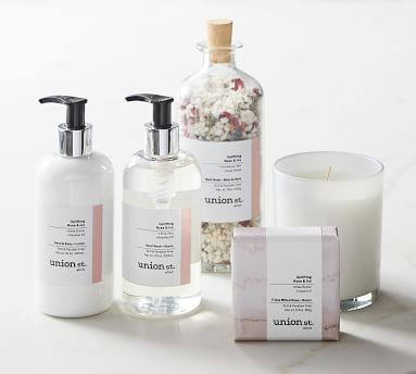 Union St. Elixir Uplifting Rose + Ivy Soap & Lotion Caddy