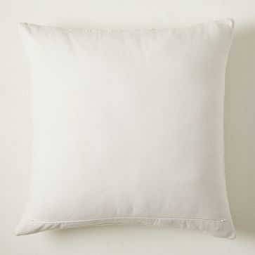 """Cozy Weave Pillow Cover, Set of 2, White, 24""""x24"""""""