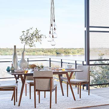 Framework Dining Chair ,Twill,Dove,Walnut