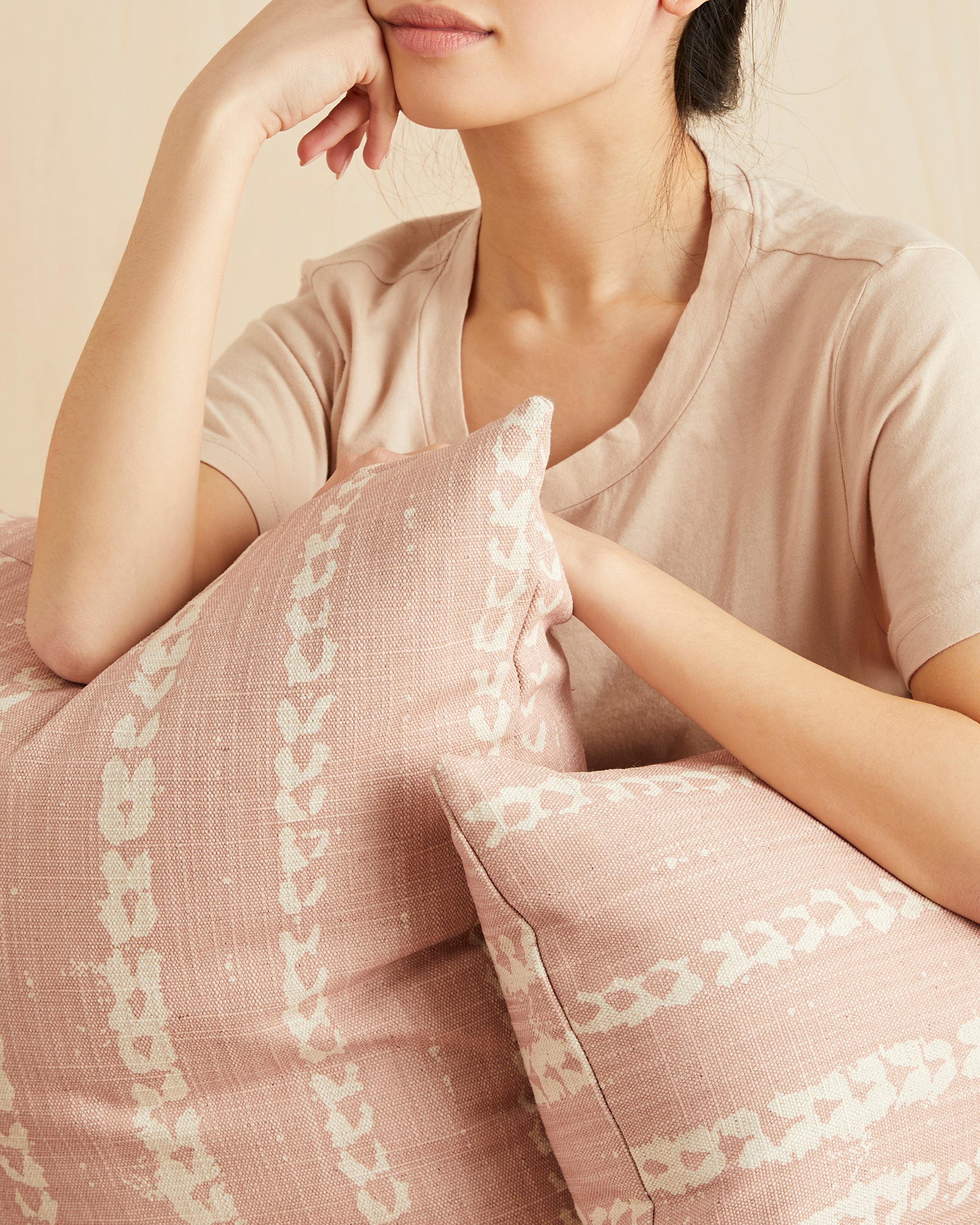 vines lumbar pillow in blush - cover only