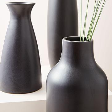 Pure Black Ceramic Vase, Jug